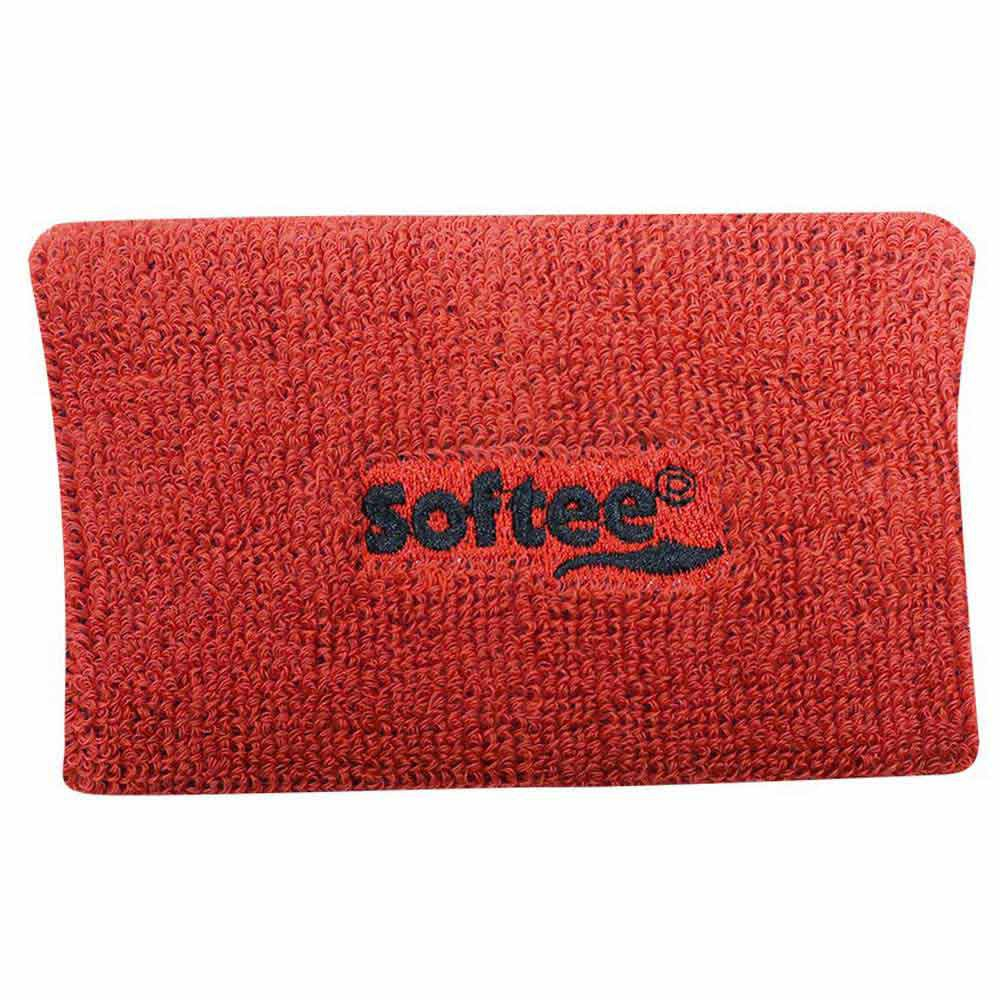 Softee Wide Wrist Band One Size Red
