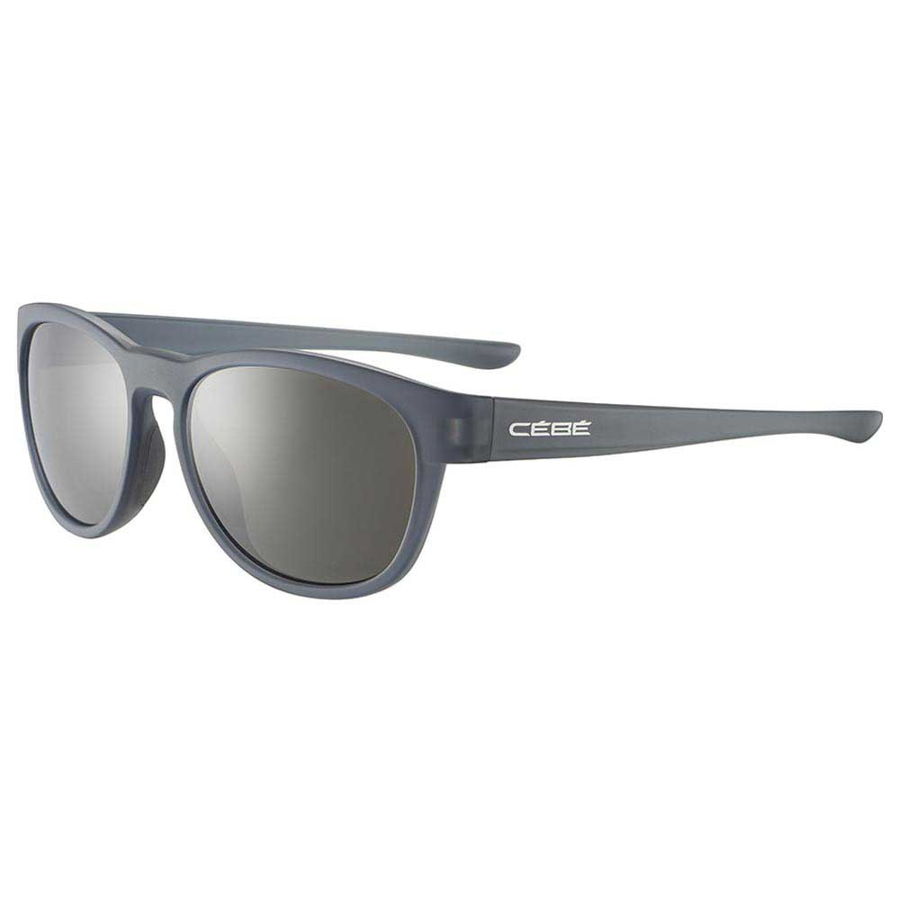 Cebe Queenstown Polarized Grey Zone Polarized Silver Mirror/CAT3 Matt Translucent Grey
