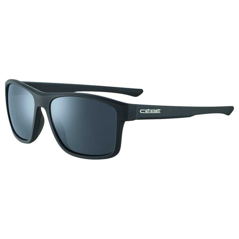 Cebe Baxter Polarized Grey Zone Polarized Silver Mirror/CAT3 Soft Touch Black