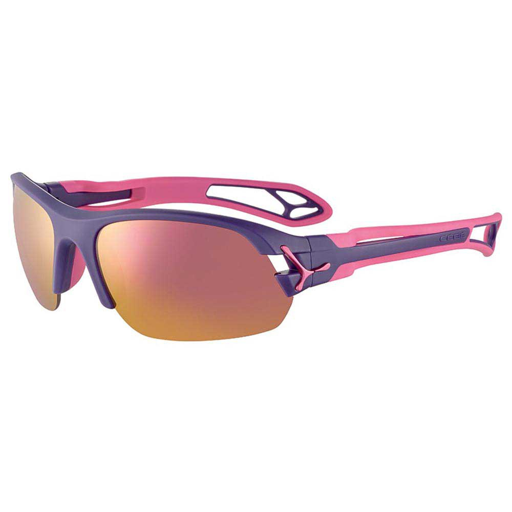 Cebe S´pring 2.0 With Interchangeable Lenses Grey Zone Pink Mirror/CAT3 + Clear Zone/CAT0 Matt Purple / Pink