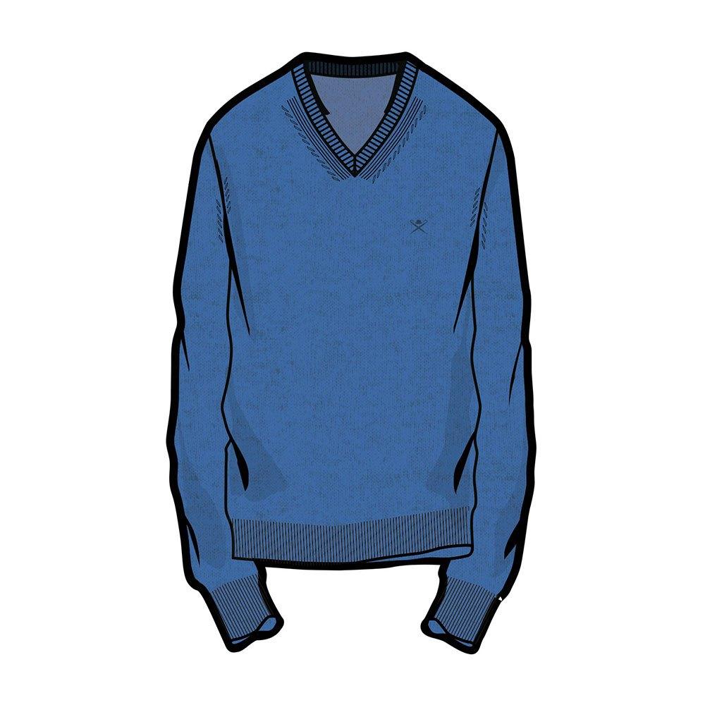 Hackett Lambswool V-neck XXL Coastal Blue