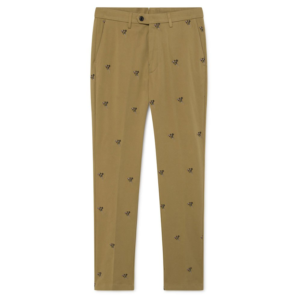 Hackett Embroidered Chino 34 Camel