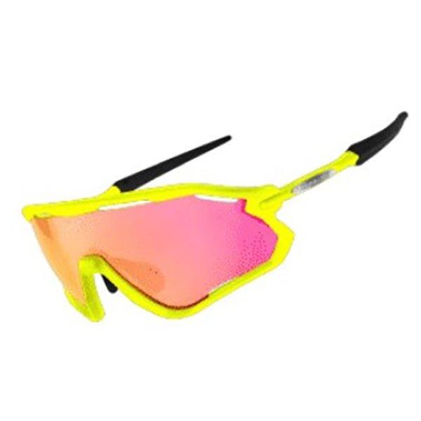 Limar Vega Sunglasses Smoke Flash/CAT3 Matt Yellow Fluo