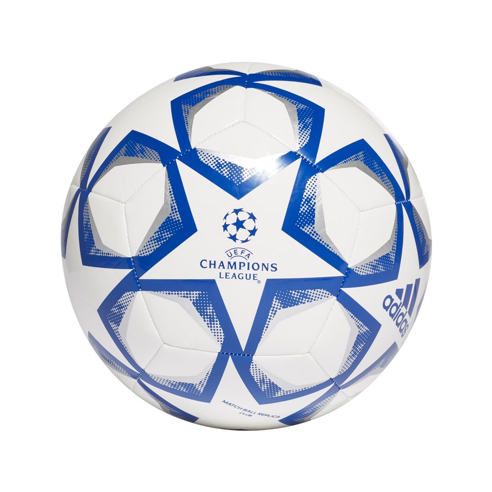Adidas Finale 20 Club Football Ball 5 White / Team Royal Blue / Silver Metalic
