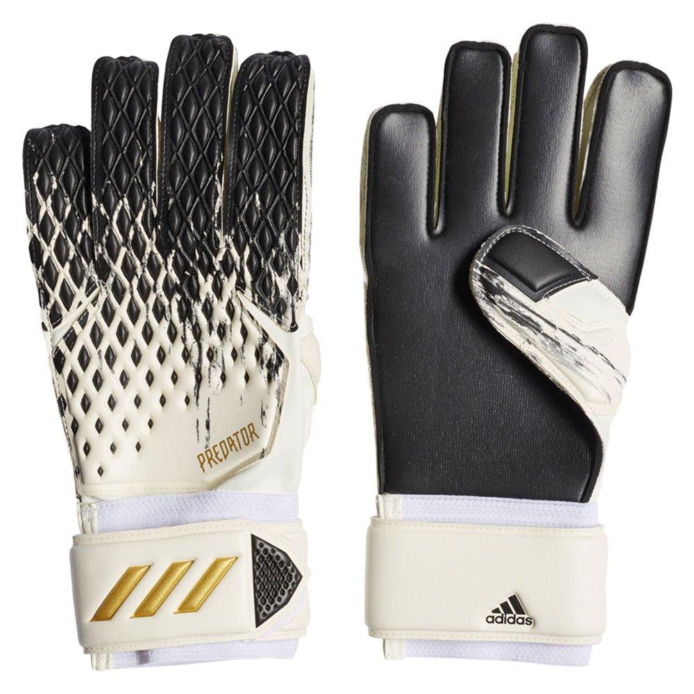 Adidas Predator Match Goalkeeper Gloves 10 1/2 White / Black / Gold Metalic