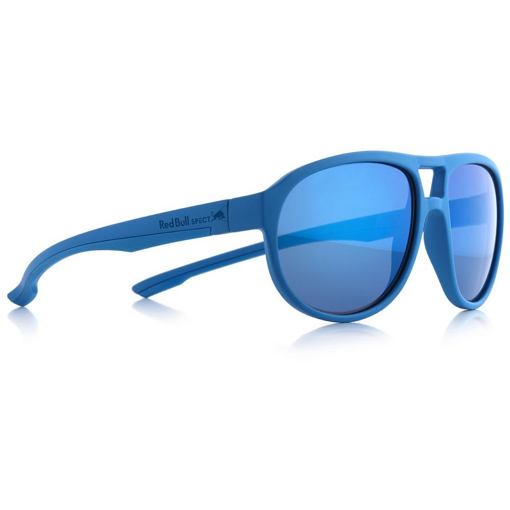 Red Bull Bail Polarized Smoke With Blue Mirror Polarized/CAT3 Light Blue