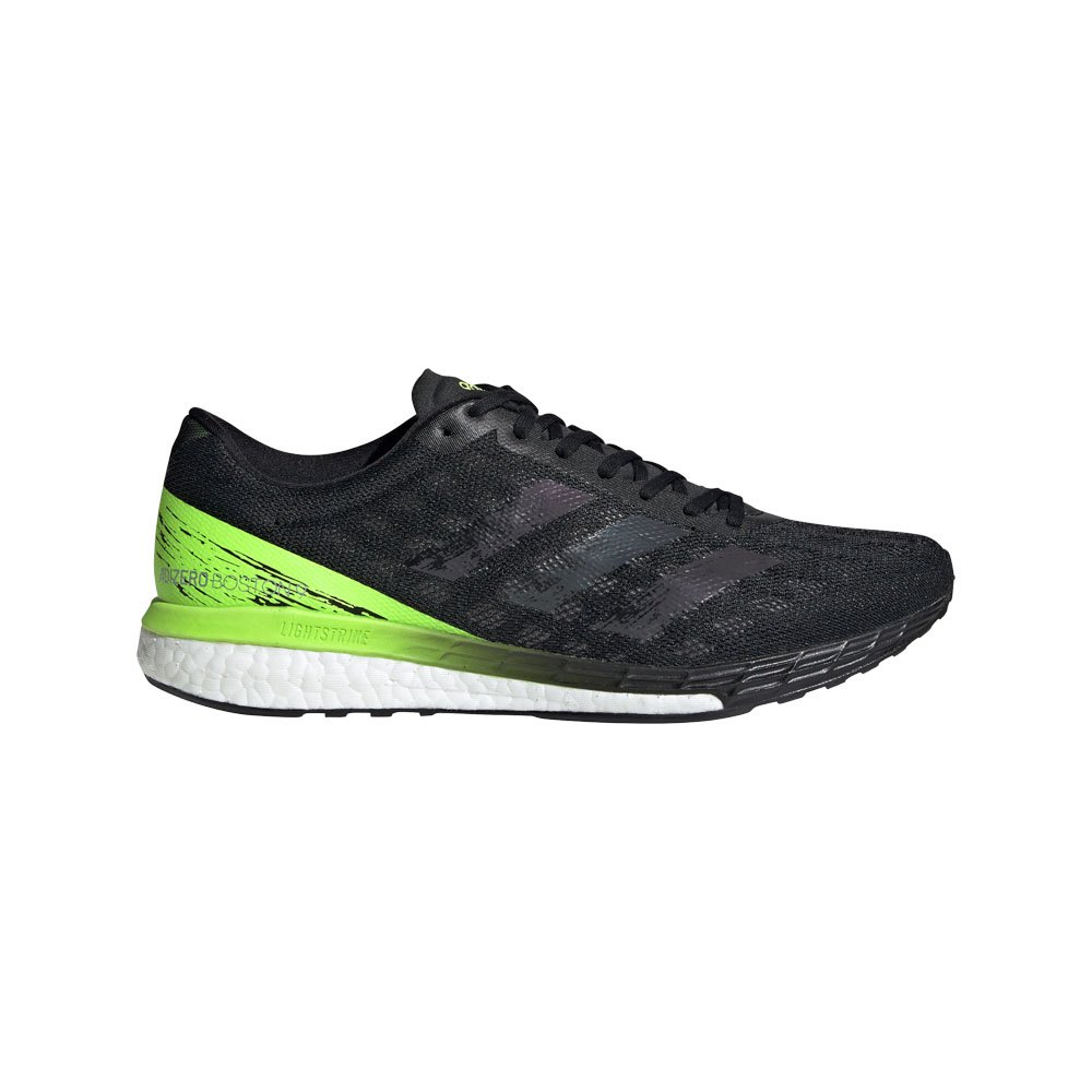 Adidas Adizero Boston 9 EU 43 1/3 Core Black / Signal Green