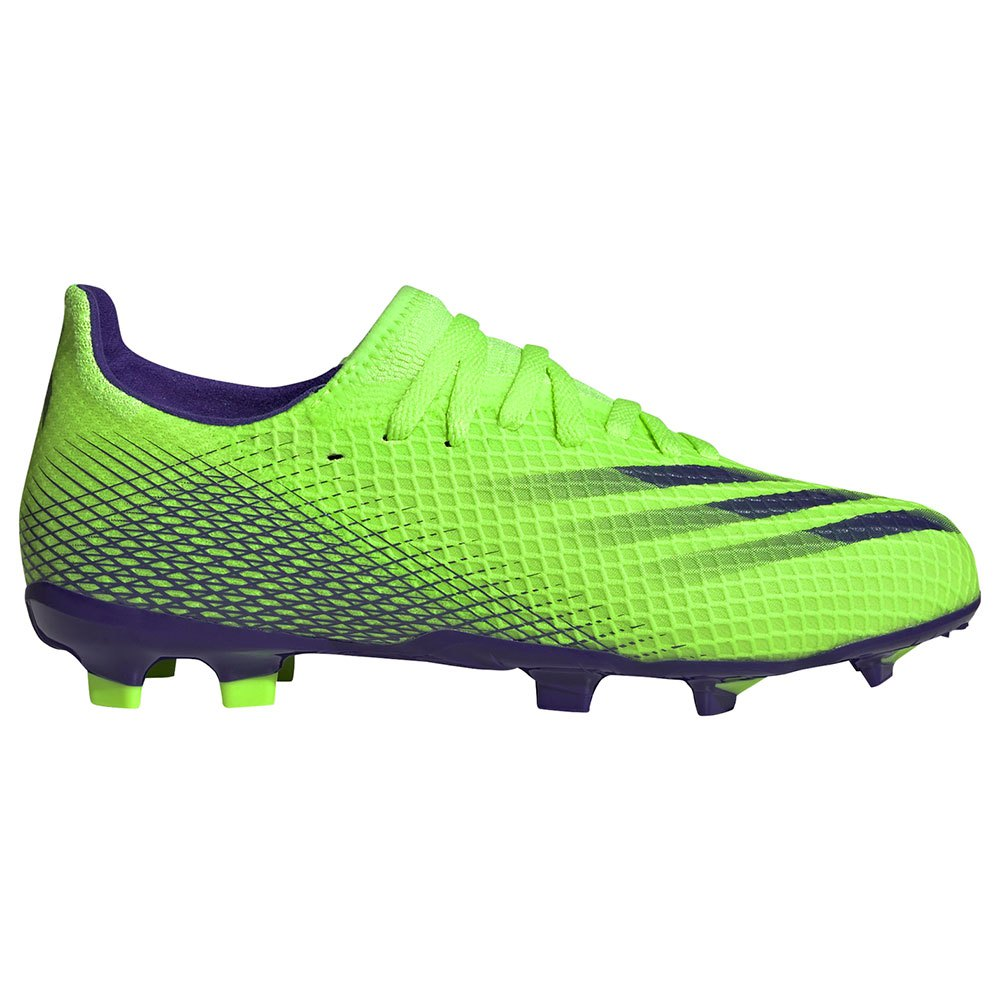 Adidas Chaussures Football X Ghosted.3 Fg EU 35 1/2 Signal Green / Energy Ink F17