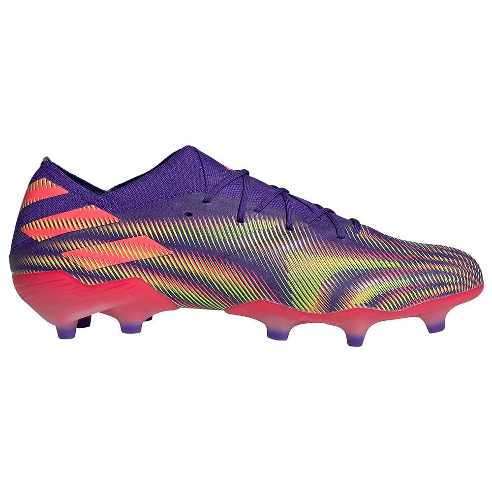 Adidas Chaussures Football Nemeziz.1 Fg EU 46 Energy Ink F17 / Signal Pink / Signal Green