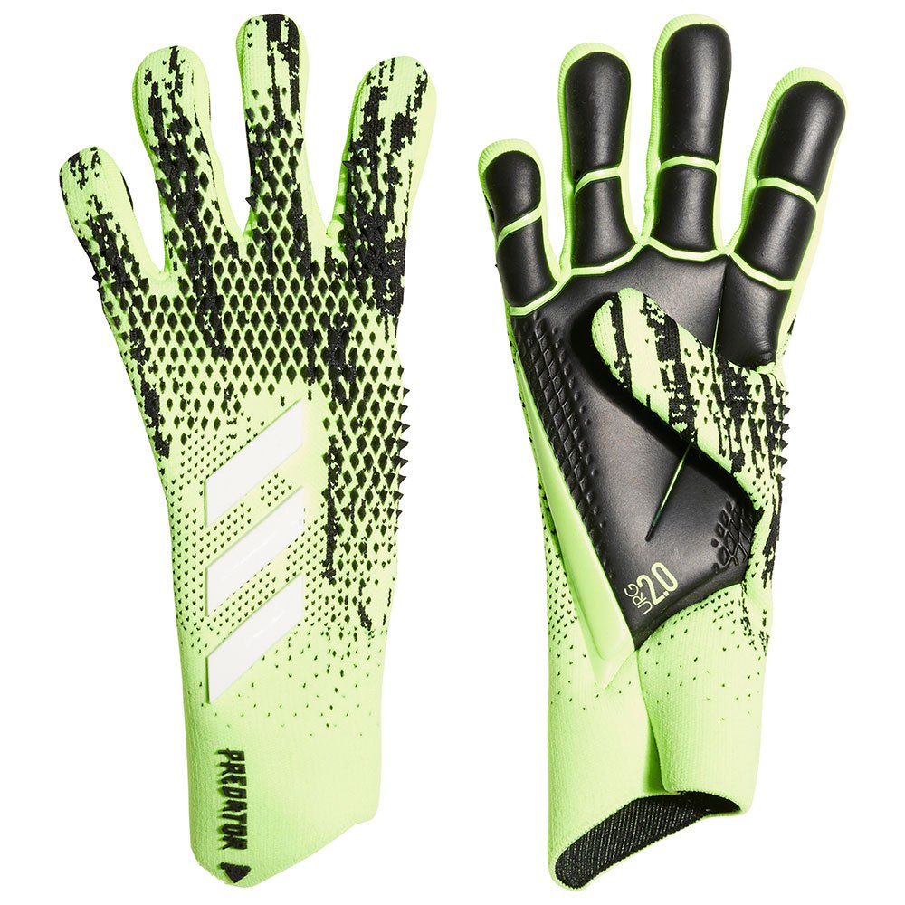 Adidas Predator Pro Goalkeeper Gloves 10 Signal Green / Black / Energy Ink F17 / White