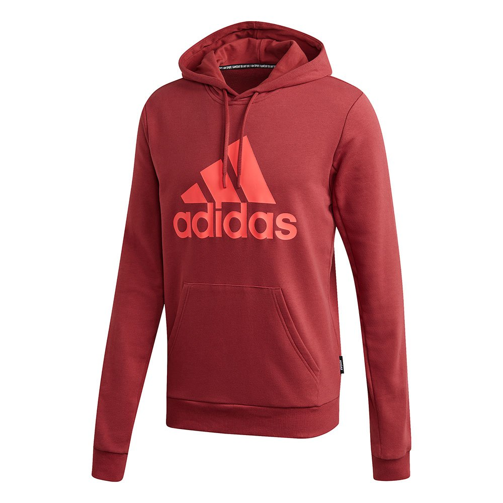 Adidas Mh Badge Of Sport Pullover French Terry L Legacy Red