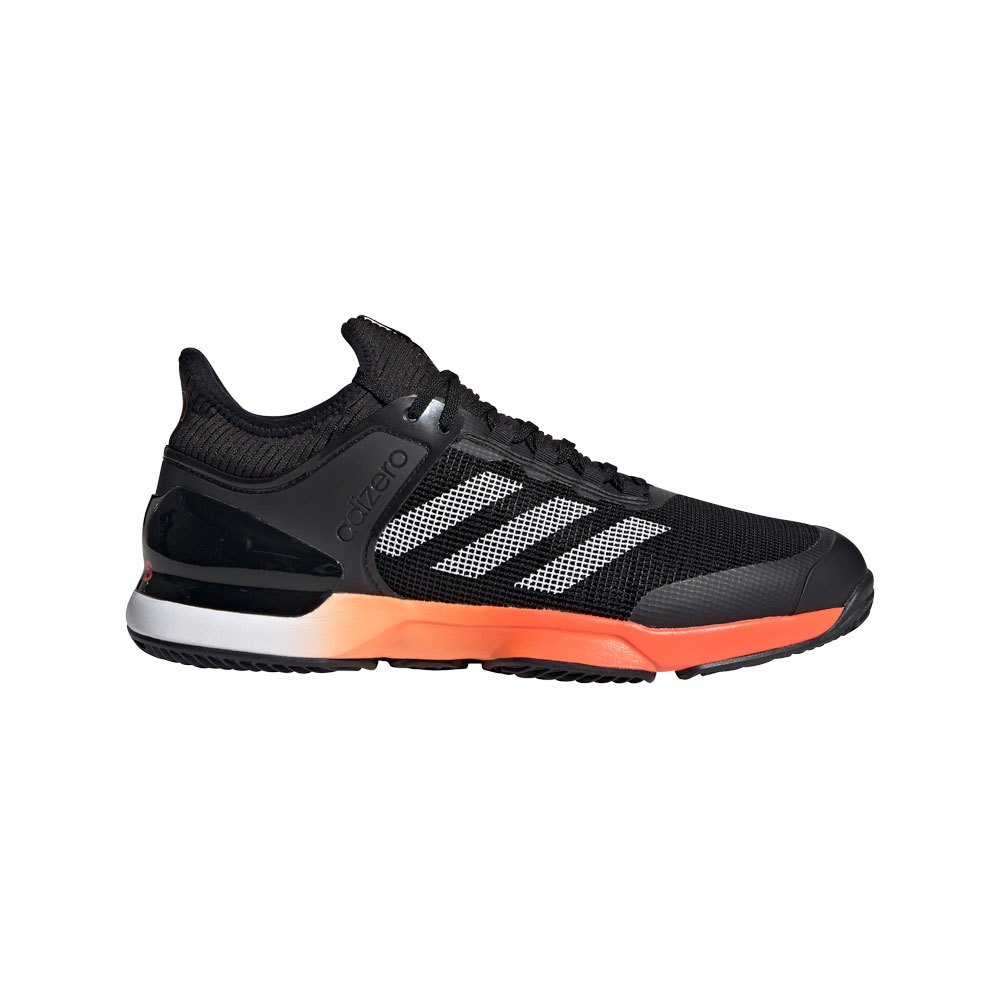 Adidas Adizero Ubersonic 2 Clay EU 46 2/3 Core Black / True Orange / Ftwr White