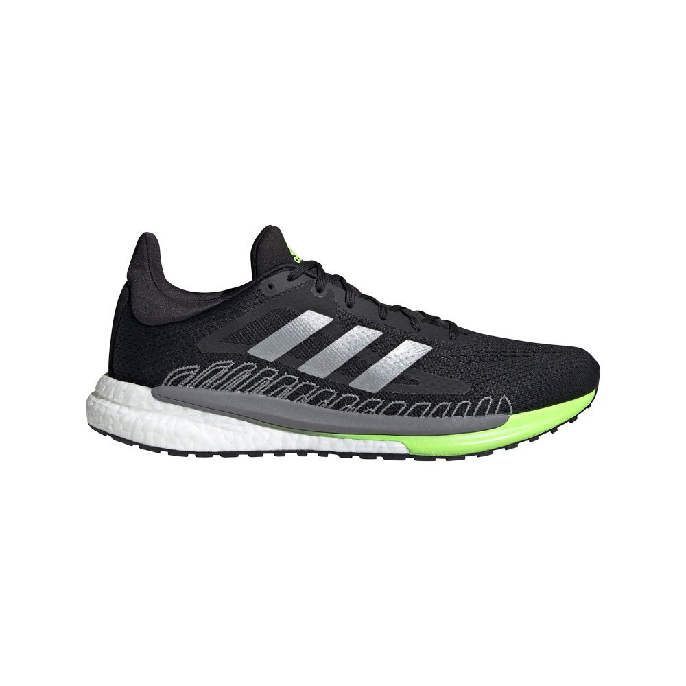 Adidas Solar Glide 3 EU 46 Core Black / Silver Metalic / Signal Green