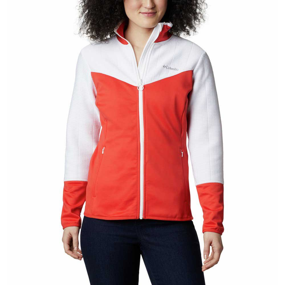 Columbia Sweatshirt Roffe Ridge Ii M Bold Orange / White