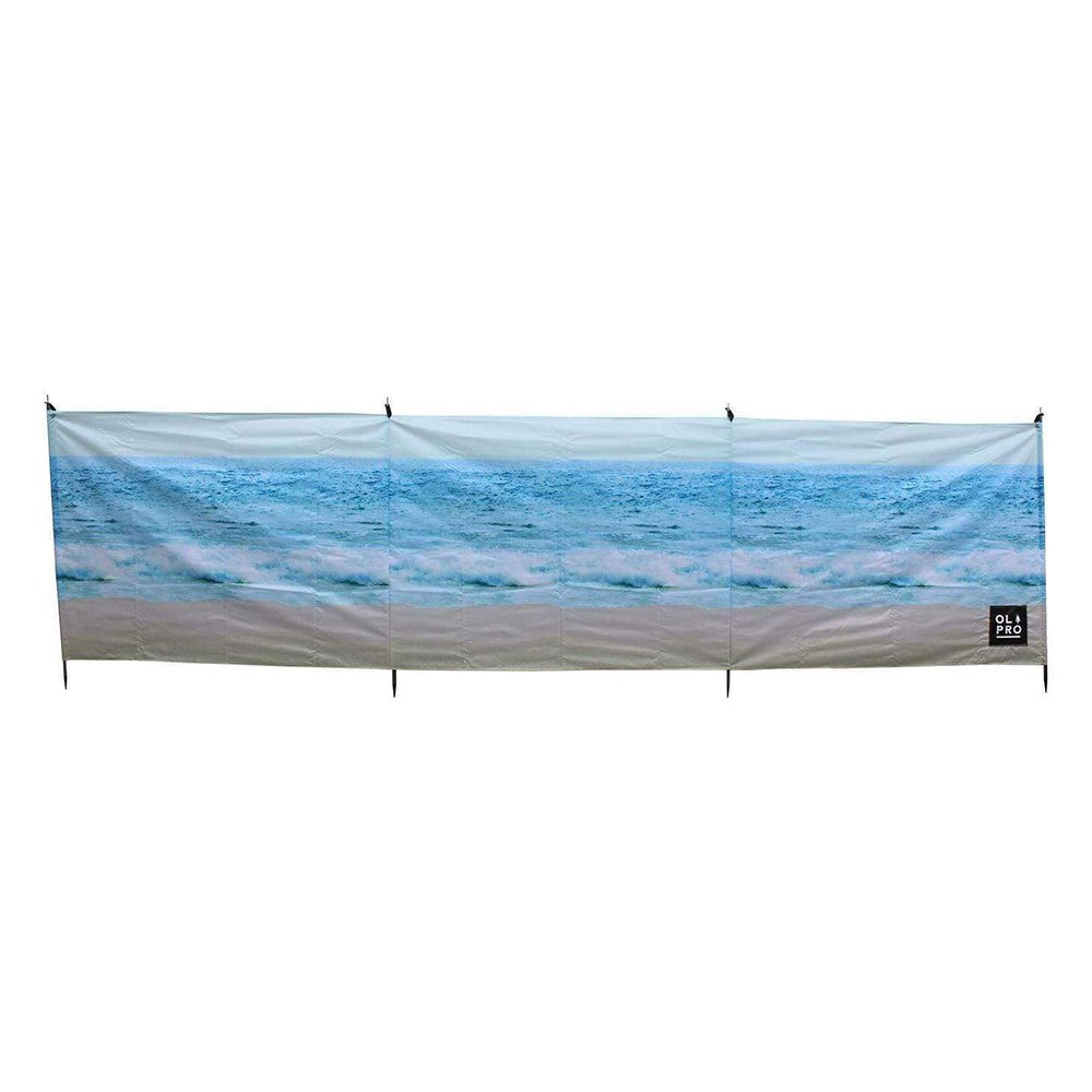 Olpro The Beach 4 Pole Compact Windbreak Steel Poles One Size Blue