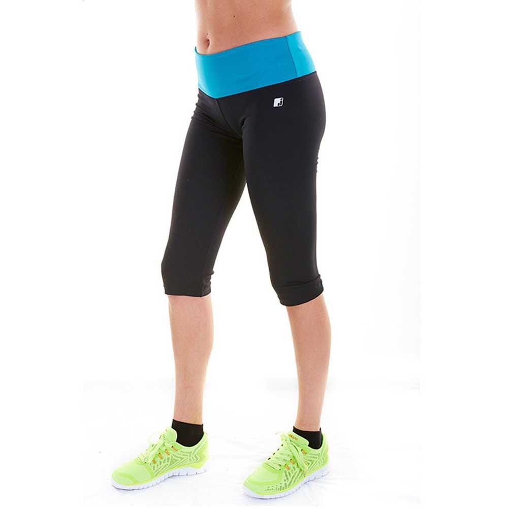 Joluvi Pantalon 3/4 Plex L Black / Neon Orange