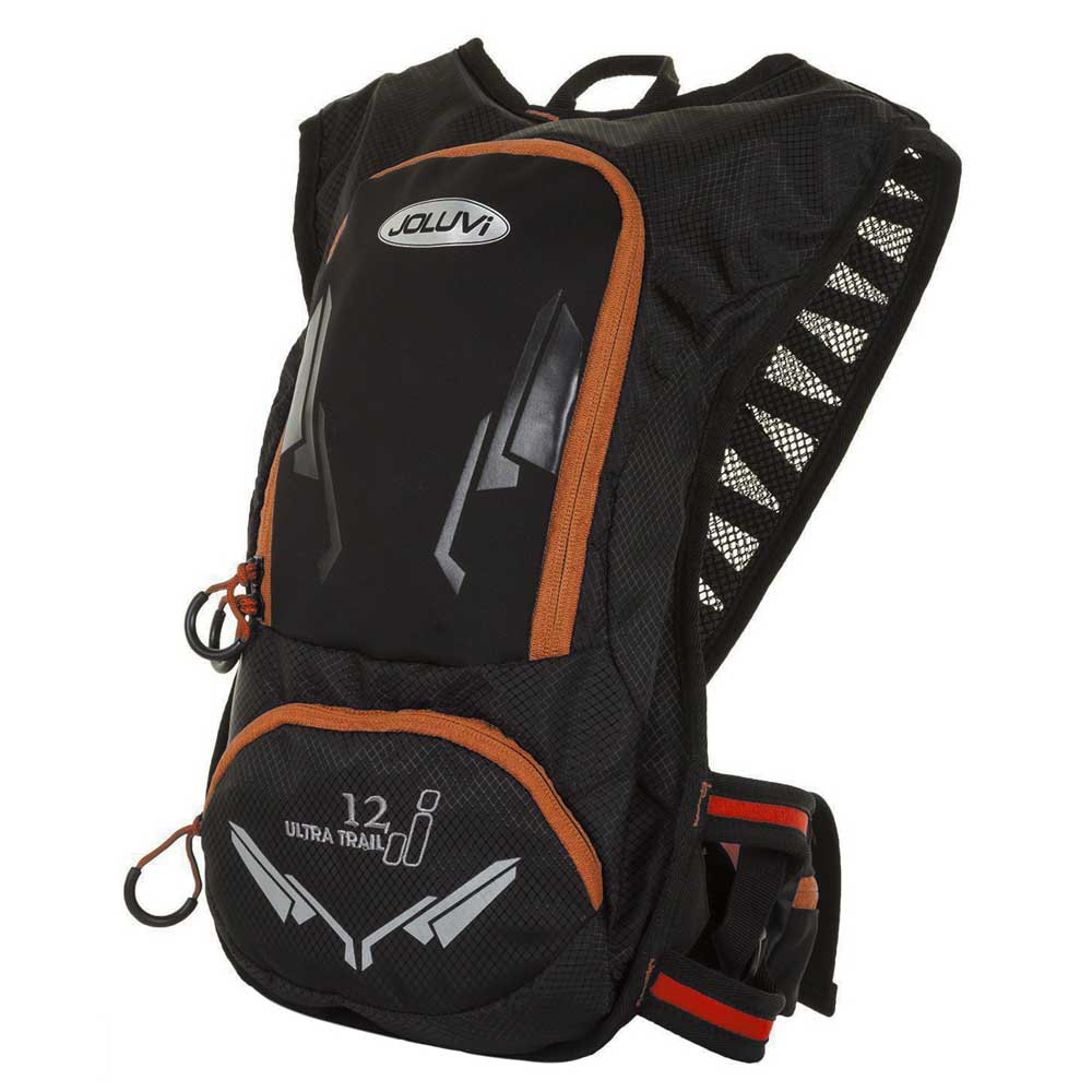 Joluvi Ultra Trail 12l Backpack One Size Black / Neon Coral