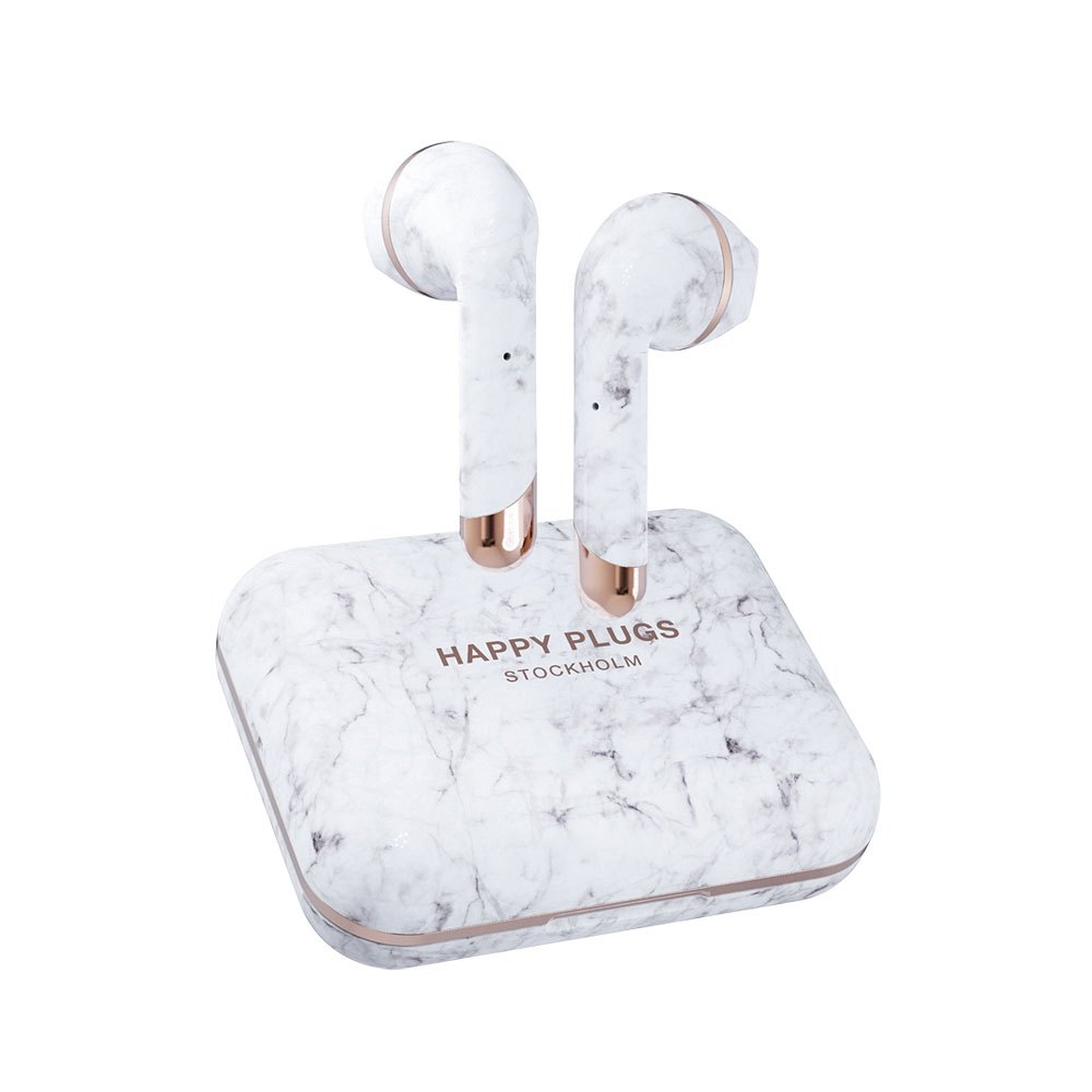 Happy Plugs Air 1 Plus Earbud True Wireless One Size White Marble