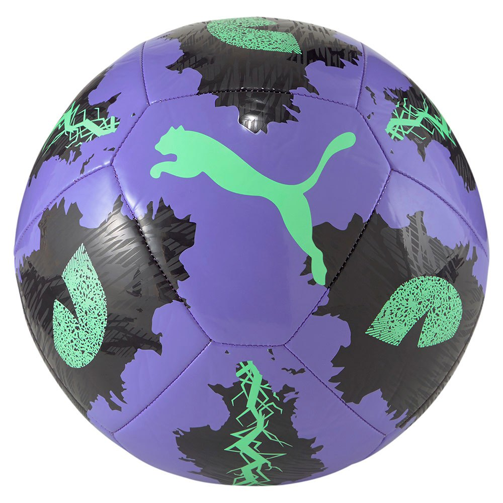 Puma Ballon Football Spin 5 Luminous Purple / Puma Black / Elektro Green