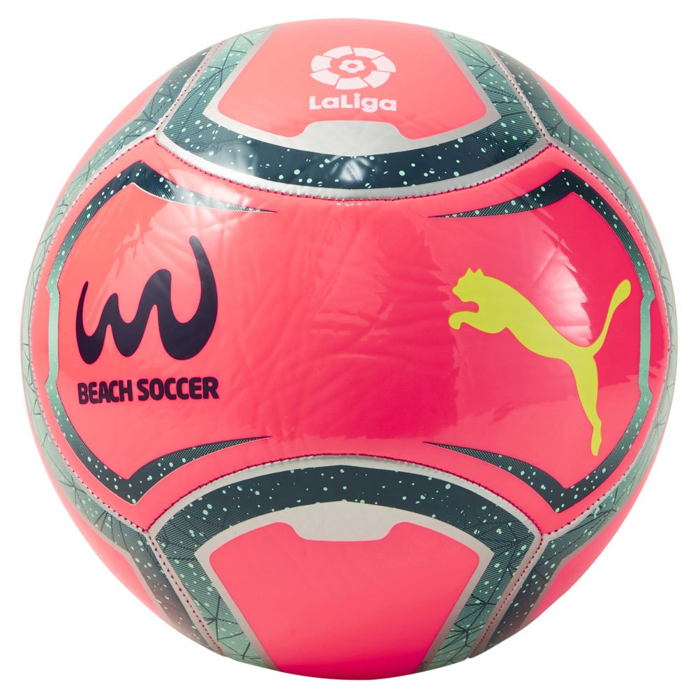 Puma Ballon Football Plage Laliga 5 Pink Alert / Green Glimmer / Gibraltar Sea / Yellow