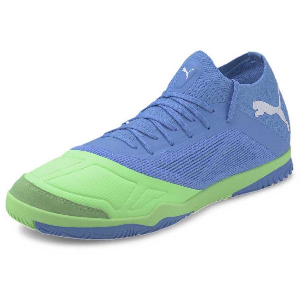 Puma Chaussures Football Salle 365 Futsal 1 EU 39 Blue Glimmer / Elektro Green / Puma White