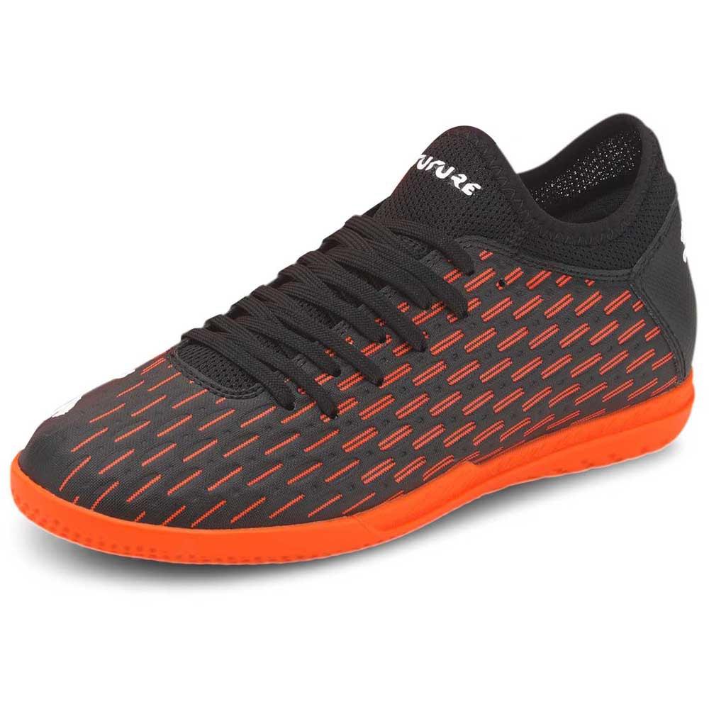 Puma Chaussures Football Salle Future 6.4 It EU 31 Puma Black / Puma White / Shocking Orange