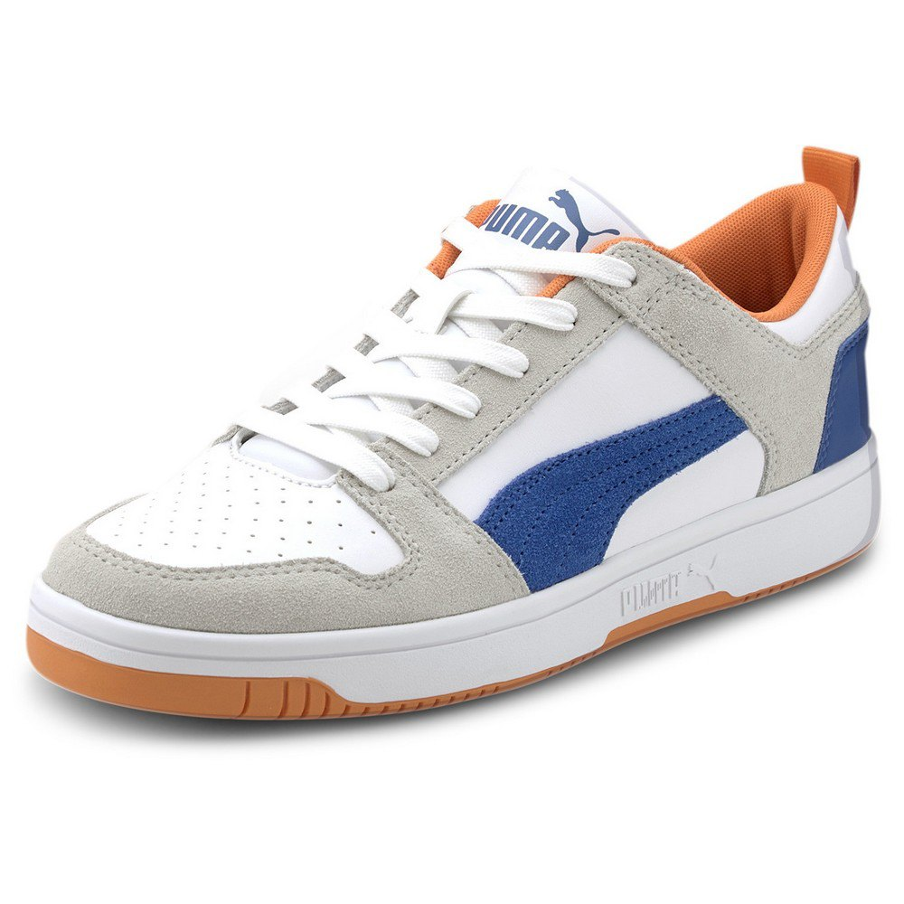 Puma Rebound Layup Lo Sd EU 45 Puma White / Lapis Blue / Vibrant Orange