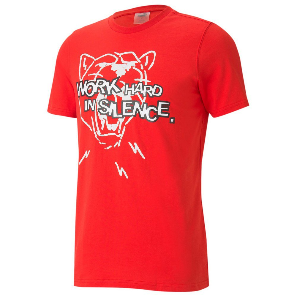 Puma Franchise Graphic Short Sleeve T-shirt S High Risk Red