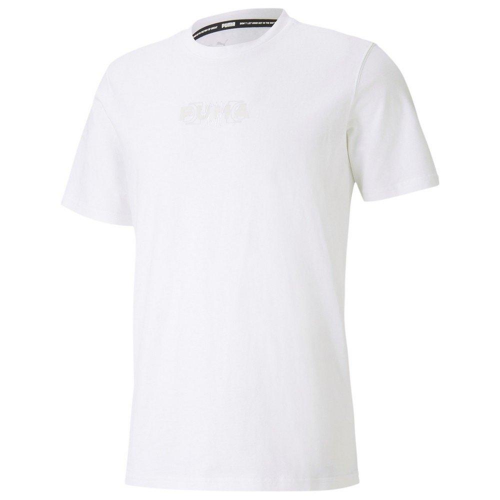 Puma Parquet Street Graphic Short Sleeve T-shirt L Puma White