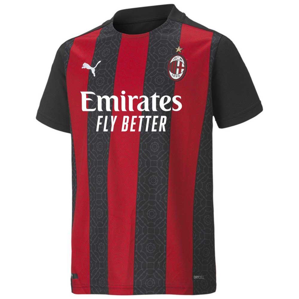Puma T-shirt Ac Milan Domicile 20/21 Junior 164 cm Tango Red / Puma Black