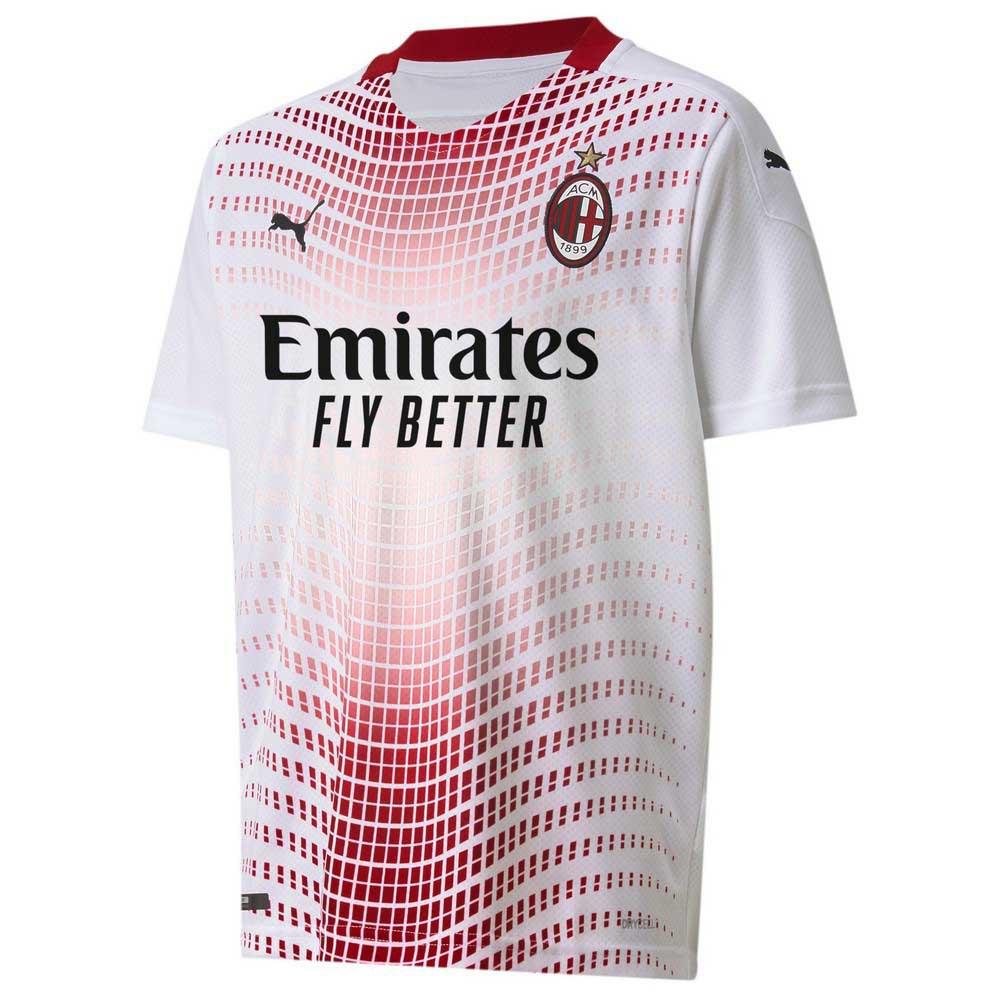 Puma T-shirt Ac Milan Extérieur 20/21 Junior 128 cm Puma White / Tango Red