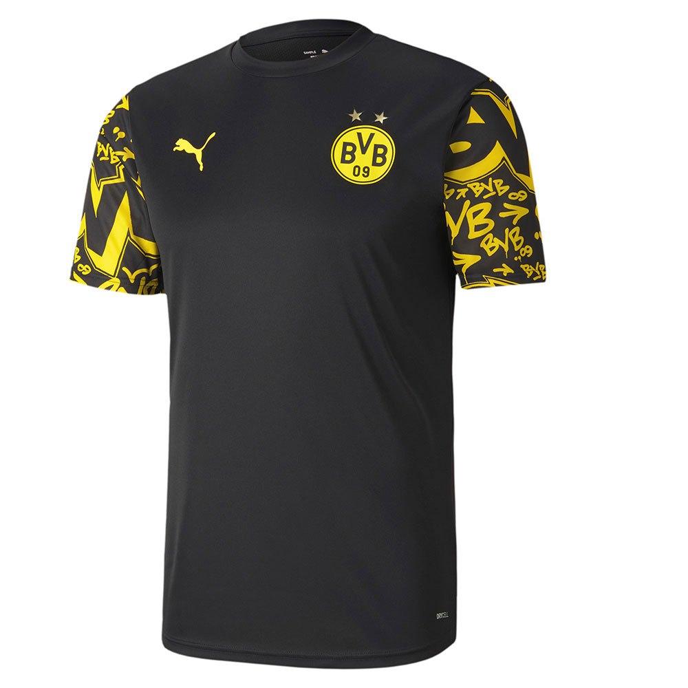 Puma Sweat-shirt Borussia Dortmund Stadium 20/21 L Puma Black / Cyber Yellow / Away