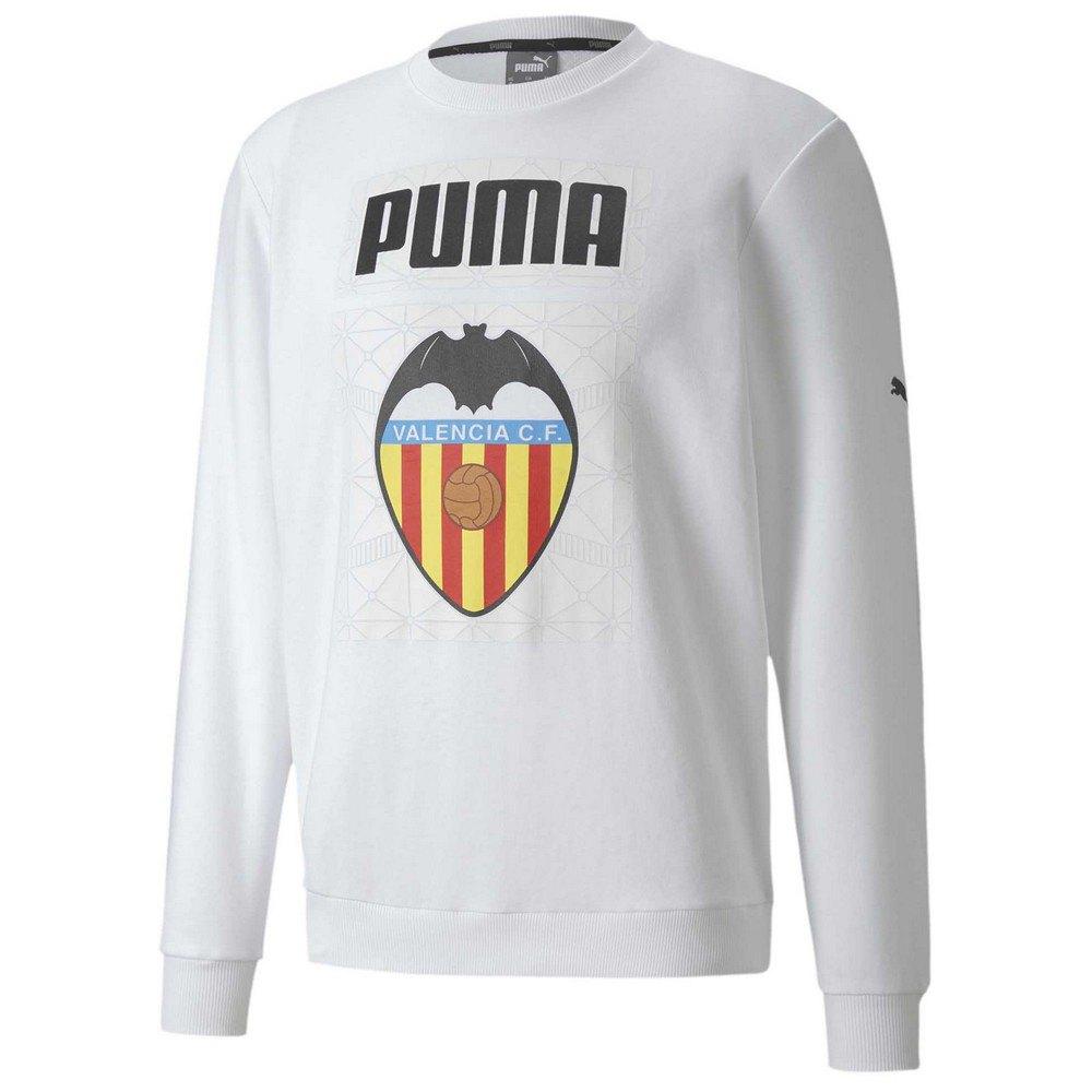 Puma Sweat-shirt Valencia Cf Ftblcore Graphic 20/21 L Puma White / Puma Black
