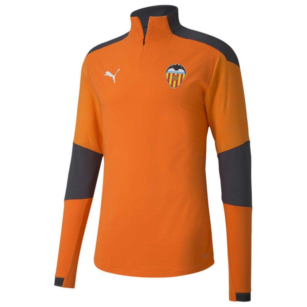 Puma Sweat-shirt Valencia Cf Entraînement 20/21 M Vibrant Orange / Asphalt