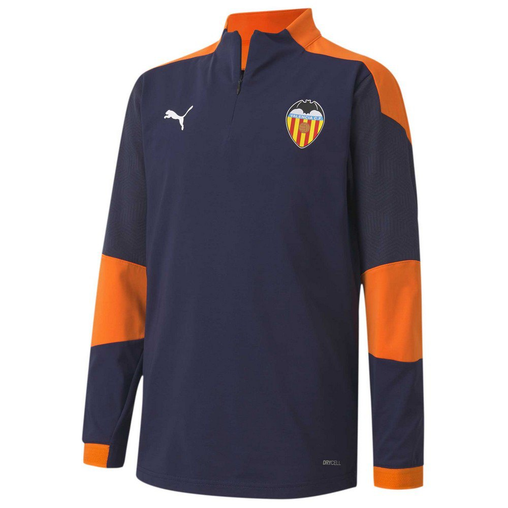 Puma Sweat-shirt Valencia Cf Entraînement 20/21 Junior 116 cm Peacoat / Vibrant Orange