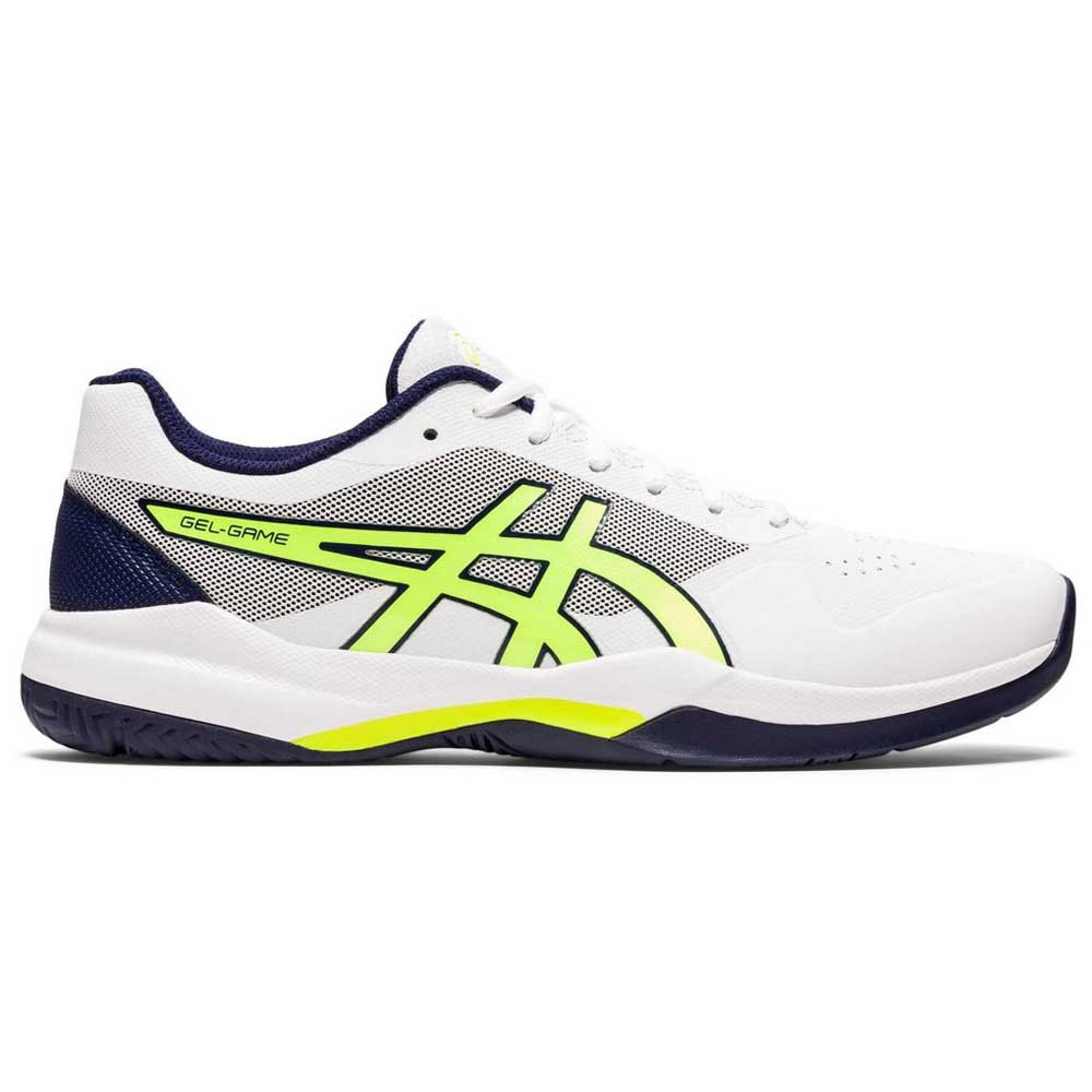 Asics Chaussures Surface Dure Gel Game 7 EU 46 White / Safety Yellow