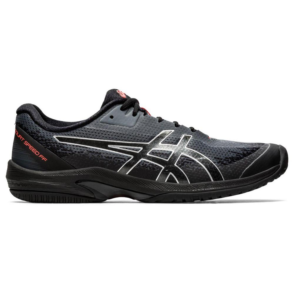 Asics Court Speed Ff Le Clay EU 50 1/2 Black / Sunrise Red