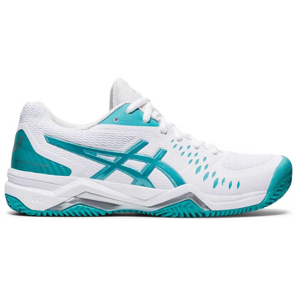 Asics Gel Challenger 12 Clay EU 37 White / Techno Cyan