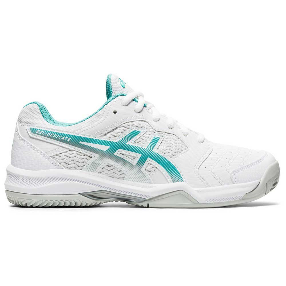Asics Gel Dedicate 6 Clay EU 37 White / Techno Cyan