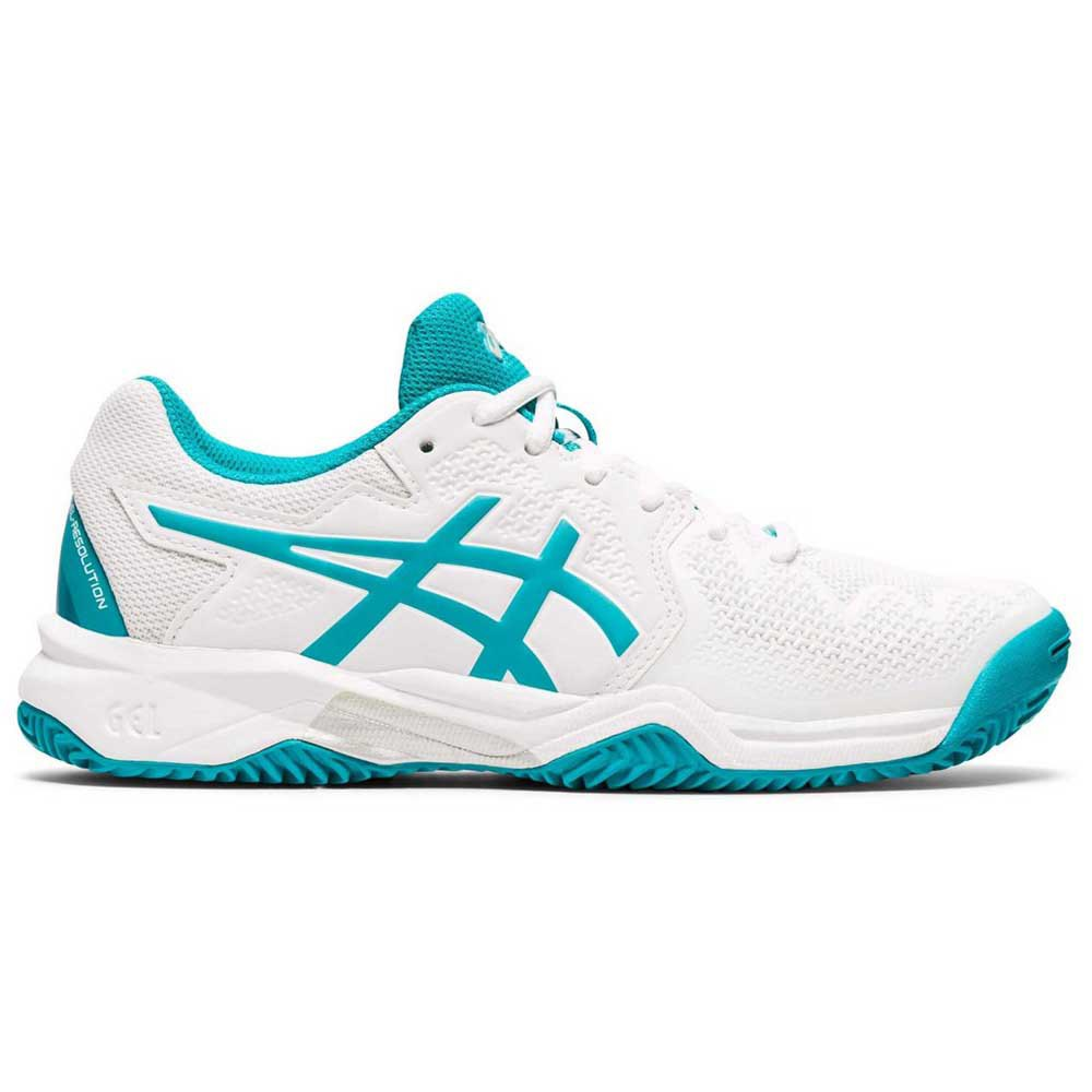 Asics Gel Resolution 8 Clay Gs EU 37 White / Lagoon