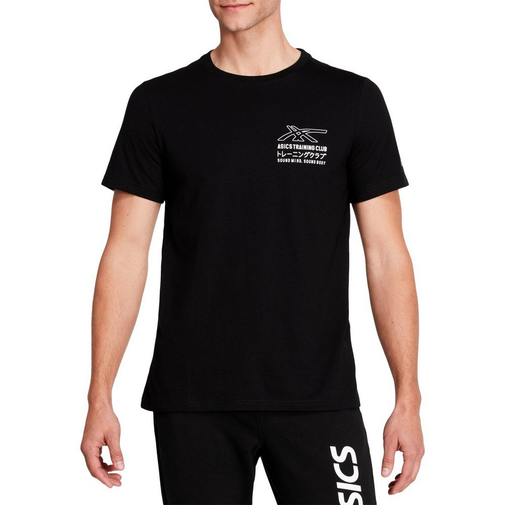 Asics T-shirt Manche Courte Sound Mind Sound Body Graphic Iii XXL Performance Black / Brilliant White