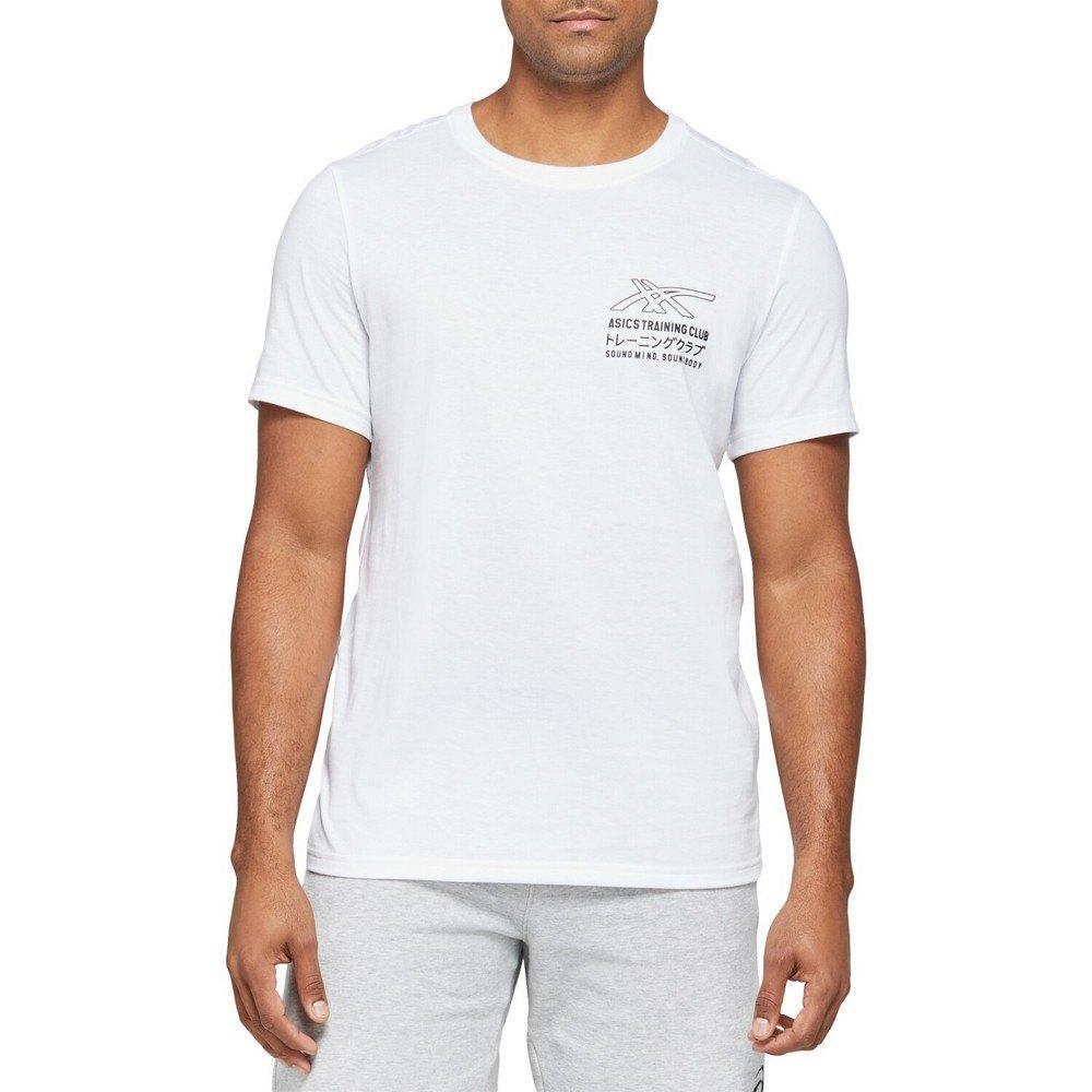 Asics T-shirt Manche Courte Sound Mind Sound Body Graphic Iii XXL Brilliant White / Performance Black