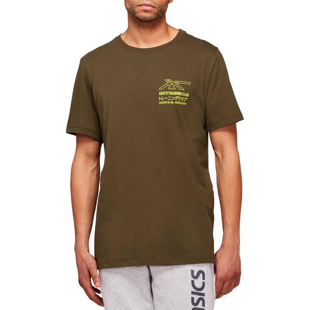 Asics T-shirt Manche Courte Sound Mind Sound Body Graphic Iii XXL Smog Green / Lime Zest
