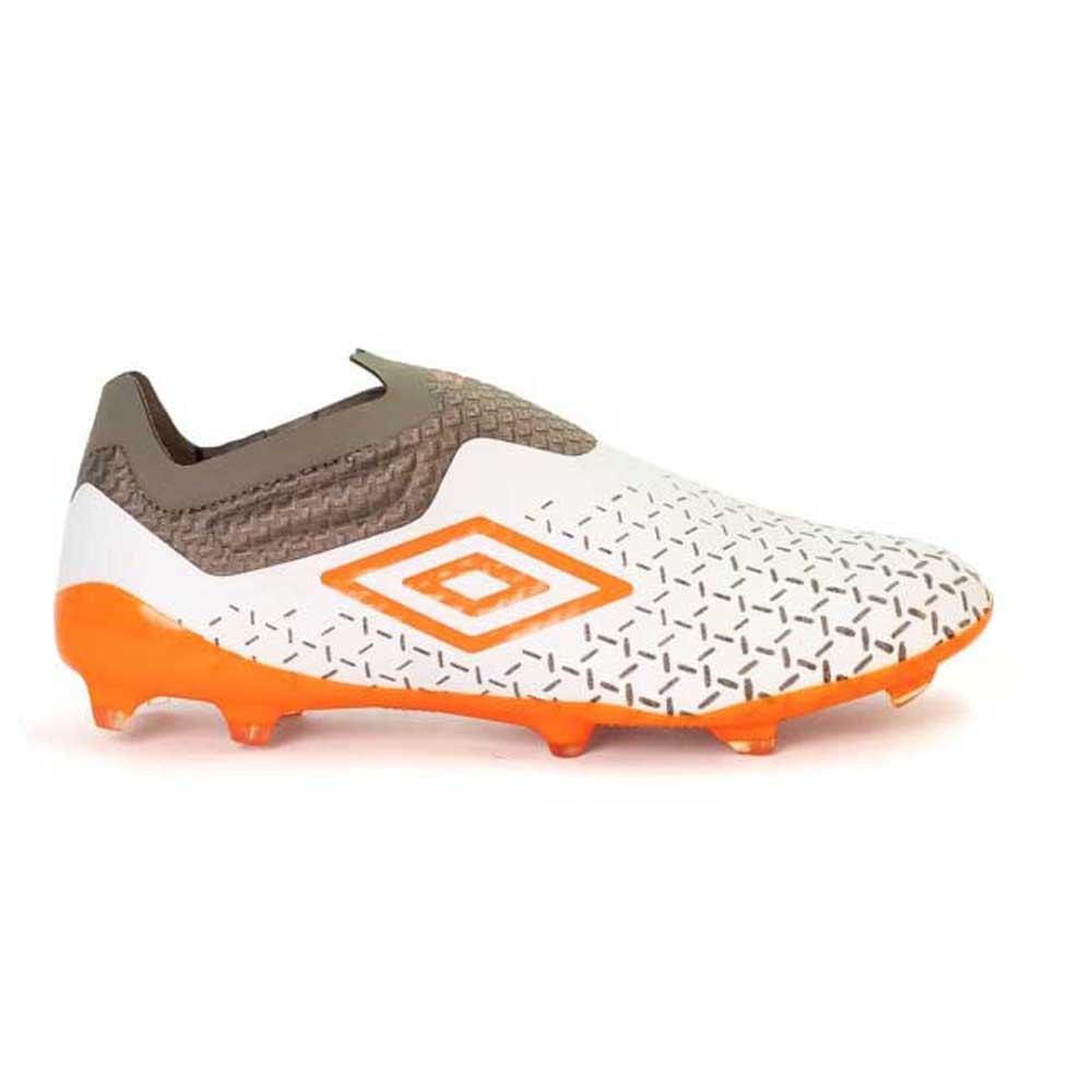 Umbro Chaussures Football Velocita V Elite Fg EU 40 White / Carrot / Frost Gray