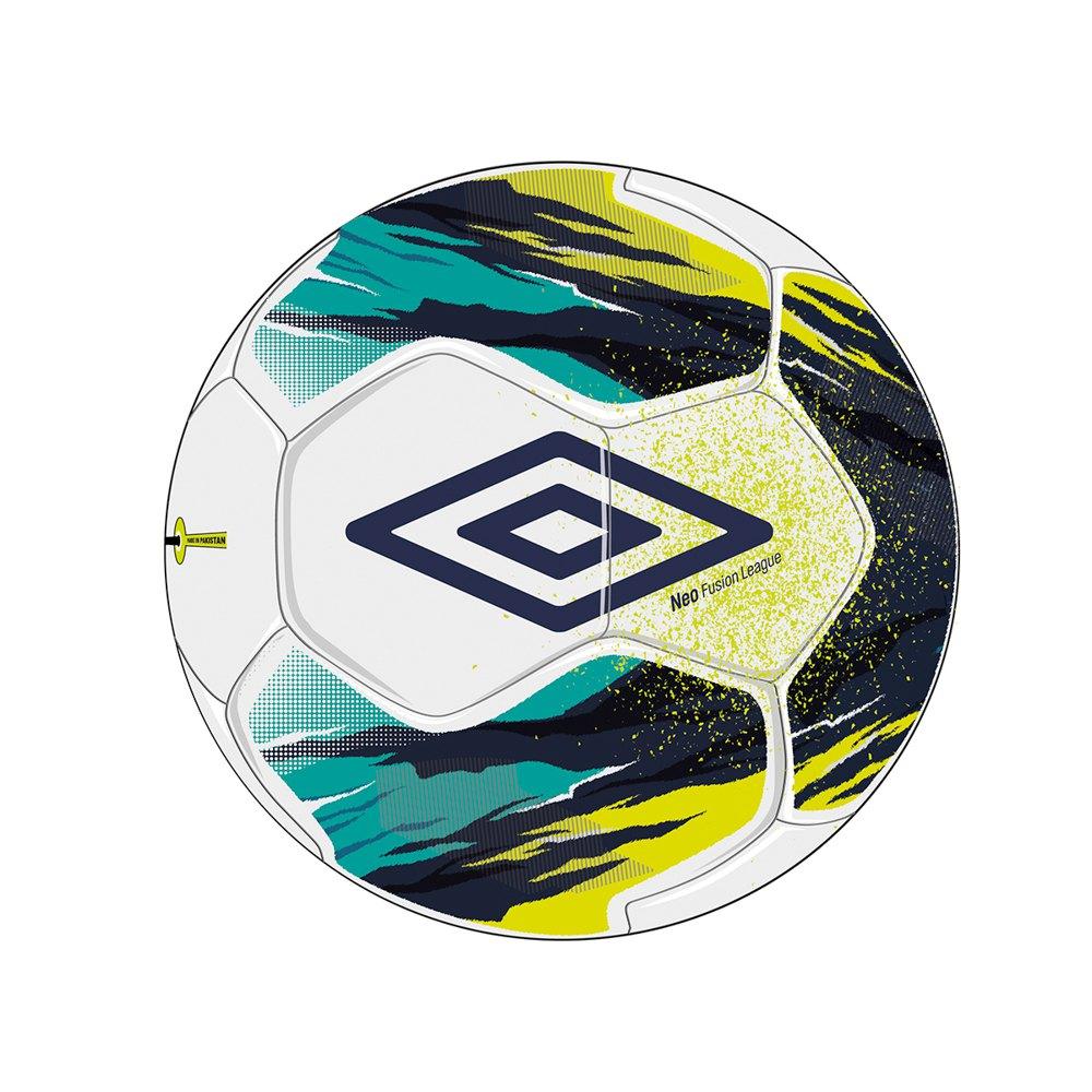 Umbro Ballon Football Salle Neo Liga 4 White / Peacoat / Lime Punch / Capri Breeze