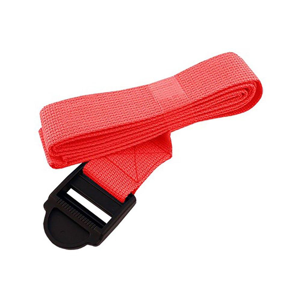 Softee Yoga Belt 185 x 3.8 cm Red