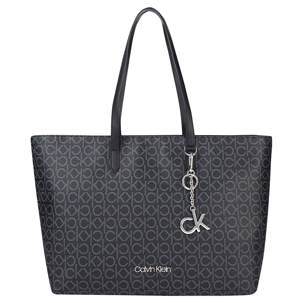 Calvin Klein Accessories Shopper Md One Size Black Mono Mix