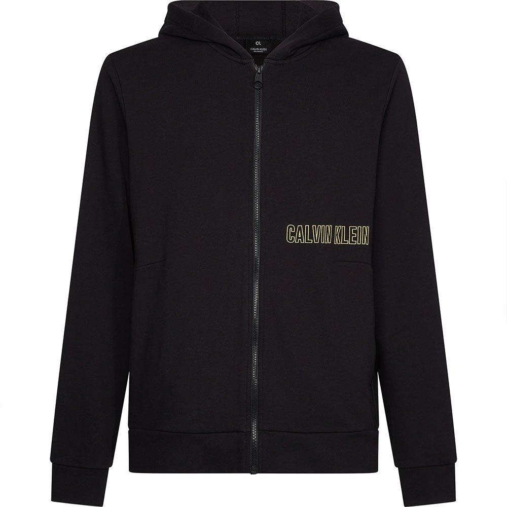 Calvin Klein Performance Full Zip Hooded Jacket S Ck Black