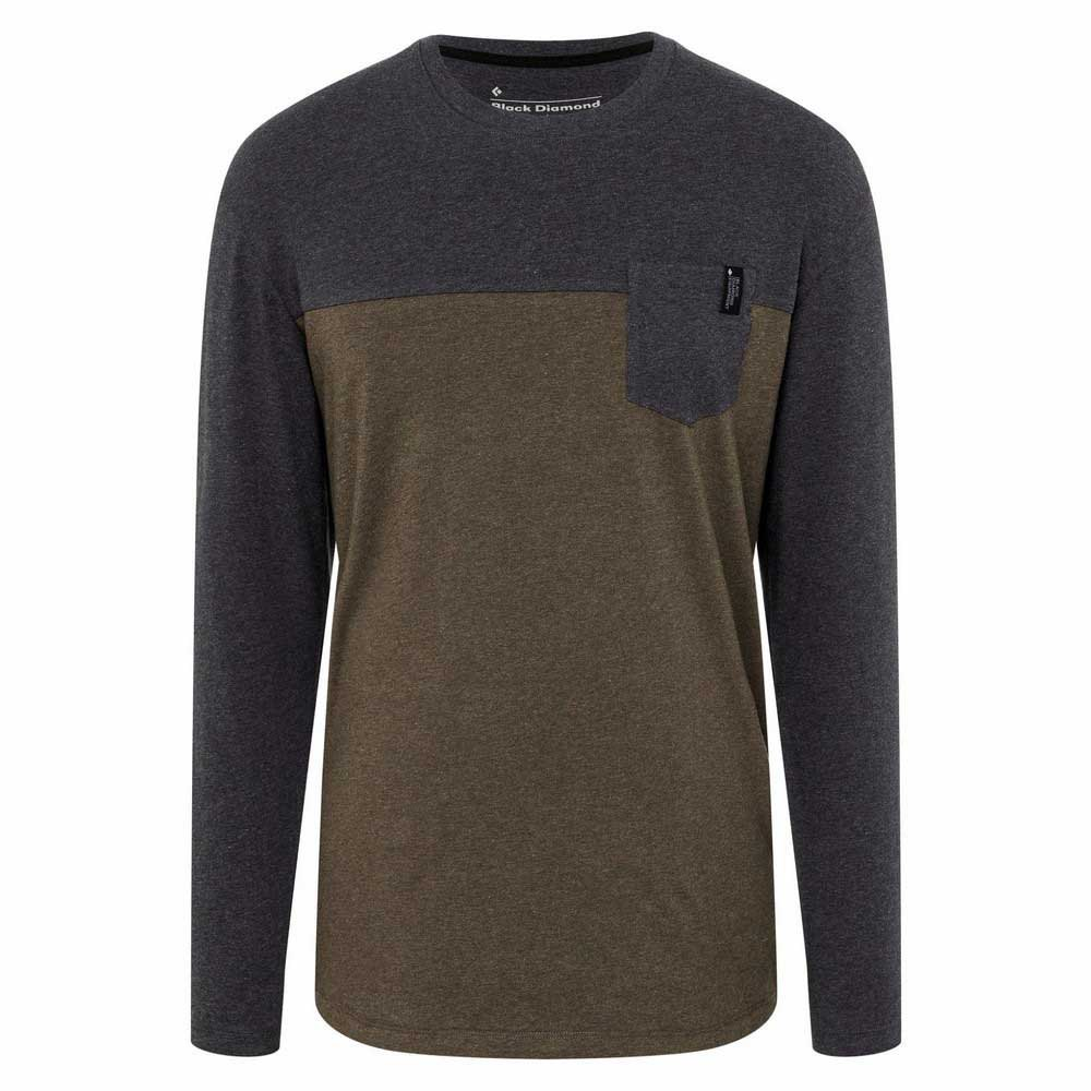 Black Diamond Campus T-shirt Manche Longue M Cypress Heather / Black Heather