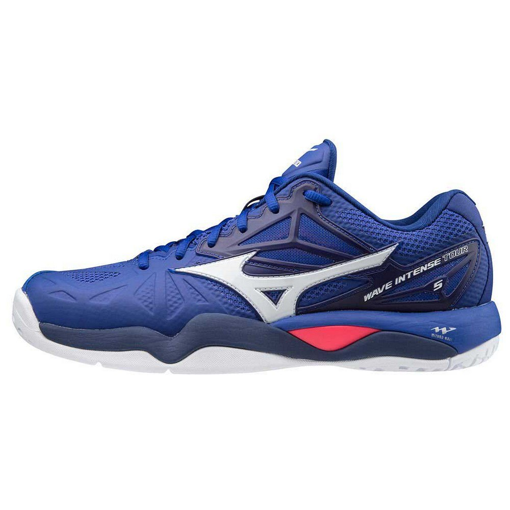 Mizuno Wave Intense Tour 5 All Court EU 42 1/2 Reflex Blue / White / Diva Pink
